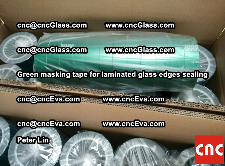 green-masking-tape-for-laminated-glass-edges-sealing-3